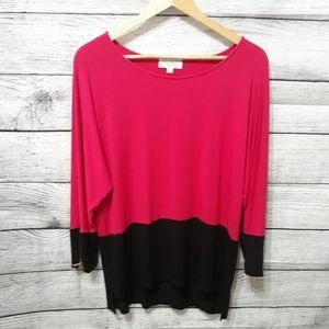 Women's Calvin Klein Color Block Blouse Size  L